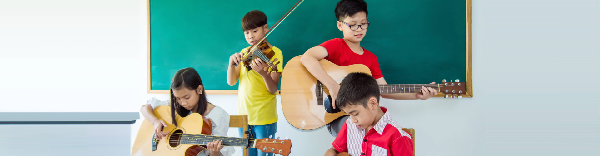 kids with their musical instrument
